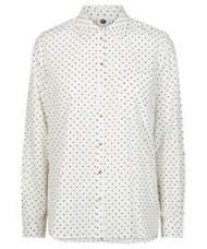salg af Pep skjorte i råhvid med prikker