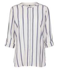 salg af Pep stor skjorte i hvid/blå bomuld
