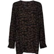 salg af Peppercorn skjorte bluse i sort med brune blade