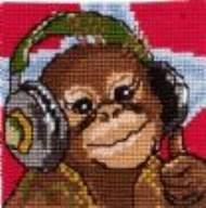 salg af Permin børne broderi med abe.