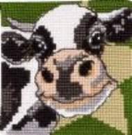 salg af Permin Børne broderi med ko.