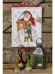salg af Permin jule kalender. måler 32 x 43 cm.