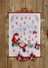 salg af Permin Julekalender Nisse med trillebør