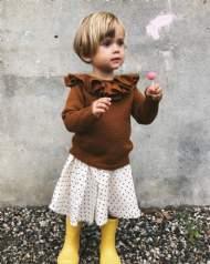 """salg af Petit Knit opskrift til """"Karens Flæse- bluse"""""""