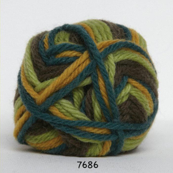 Ragg - carry gul/grøn meleret - Online salg af Ragg sokkegarn