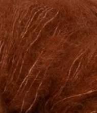 salg af Rødbrun mohairgarn med silke fra SandersGarn