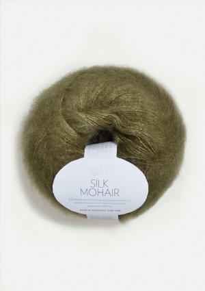salg af Silk Mohair i Mose grøn