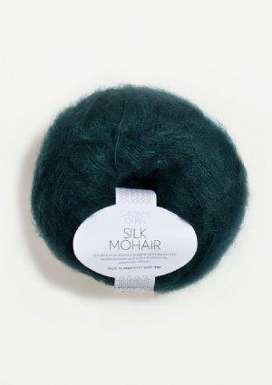 salg af Silk Mohair petrolium Grøn farve
