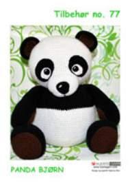salg af Tilbehør nr 77 Hæklet Panda bjørn