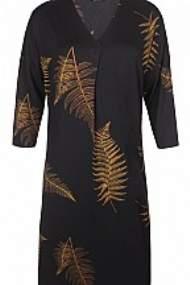 salg af Ze-Ze Kjole i sort med gule blade i møns.
