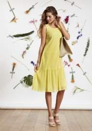salg af Ze-Ze Lys Gul Sommer kjole