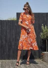 salg af Ze-ZE Sommer kjole i orange