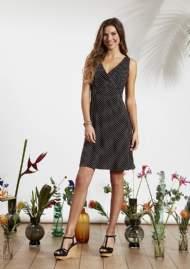 salg af Ze-Ze Sommer kjole i sort med prikker
