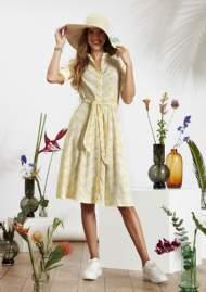 salg af Ze-Ze Sommer kjole med print af gule palmer