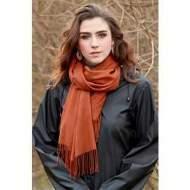 salg af Ze-Ze Tørklæde i Rust farvet.