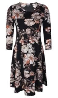 salg af Ze Ze Viskose kjole med blomster i sort